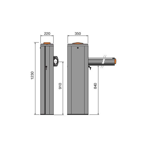 Cardin Barrier 4m Dark Grey Kit