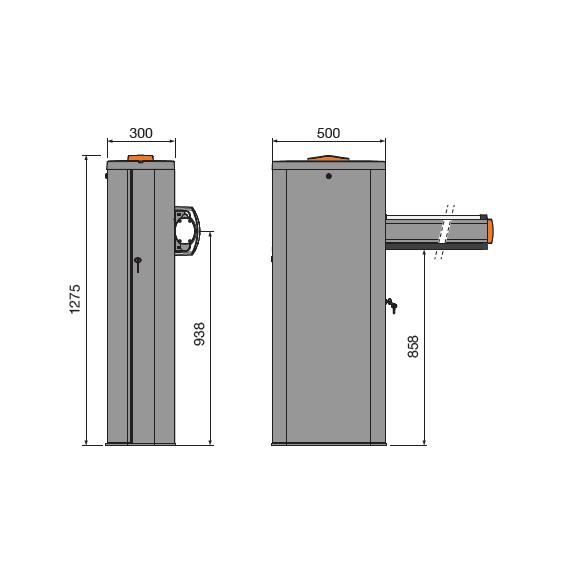 Cardin Barrier 6m Dark Grey Kit